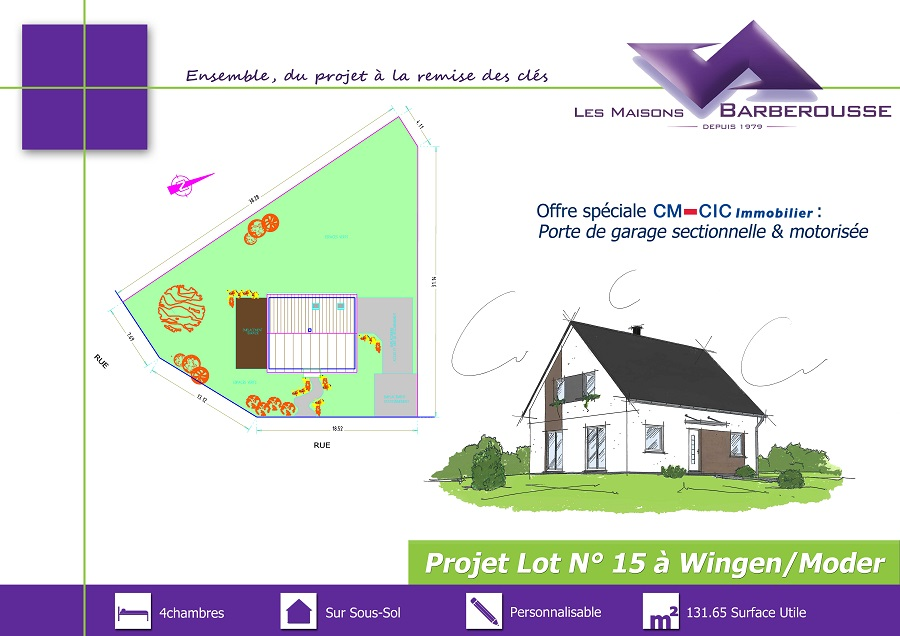 PLAQUETTE lot 15 WINGEN 1